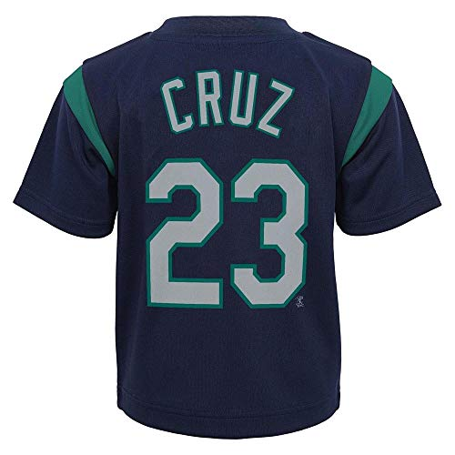 - Outerstuff MLB Toddler 2T-4T Team Player Name and Number Jersey T-Shirt (4T, Nelson Cruz Seattle Mariners)