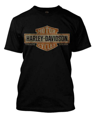 Harley Davidson Distressed Elongated T Shirt 30296553