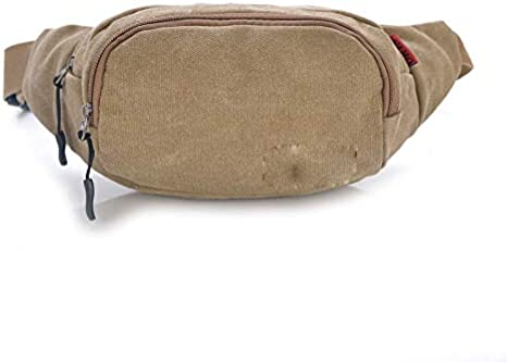 Wenzhihua Hombres Mujeres Camping Fanny Pack, Lona 36 * 14 * 11 ...