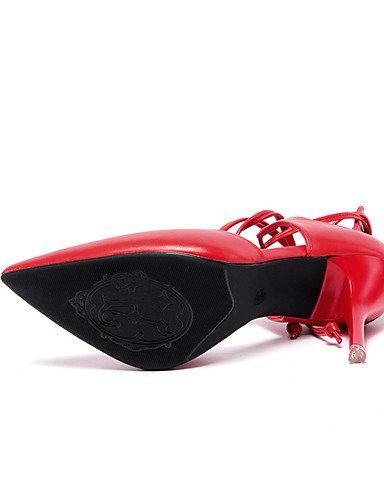 LFNLYX Zapatos de mujer-Tacón Stiletto-Tacones / Comfort / Innovador / Puntiagudos / Botas a la Moda / Zapatos y Bolsos a Juego-Sandalias / White