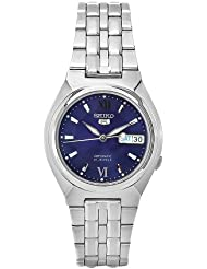 Seiko Mens SNK319K1S Stainless-Steel Analog with Blue Dial Watch