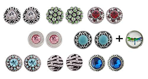 Dragonfly Snap Charm Set Includes Assortment of 3 Pairs Mini Snaps 12mm Interchangeable Jewelry (KB-3D-MINI-SET-2)