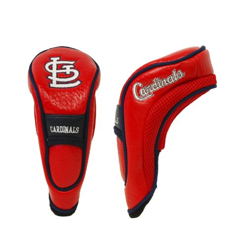 Athletic Cardinal Head - Team Golf MLB St Louis Cardinals Hybrid Golf Club Headcover, Hook-and-Loop Closure, Velour lined for Extra Club Protection