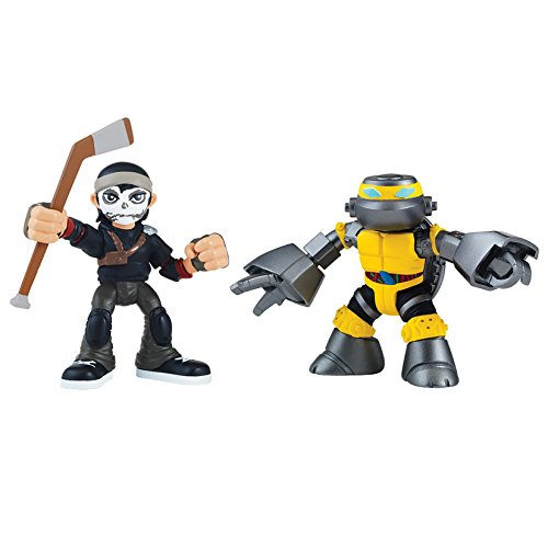 Teenage Mutant Ninja Turtles Pre-Cool Half Shell Heroes Metalhead and Casey Jones Figures