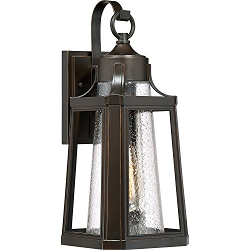 Quoizel LTE8407PN Lighthouse Outdoor Lantern Wall Sconce, 1-Light, 100 Watts, Palladian Bronze (17