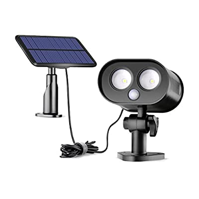 Sunix Solar Motion Sensor Lights, Wireless Solar Lights Outdoor with Split-Type Panel, Wide Lighting Area, Waterproof IP65 Solar Power Security Lights for Garden,Porch,Yard,Garage