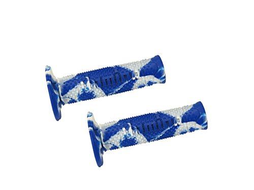 DOMINO Coppia manopole snake blu/bianco (Manopole Moto) / Couple handle grips snake blue-white (Knobs Motorcycle) A26041C92A7