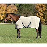 Upland by Dover Saddlery Irish Knit Anti-Sweat Sheet for Horses, Size 80, Natural/Navy