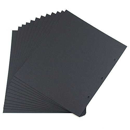 [Scrapbook Refill Pages, Thick Cardboard Black Sheets for Scrapbook (21.5 x 26cm/8.46 x 10.23 Inch, Pack of 20)] (Scrapbook Refill Kit)