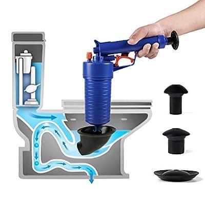 ETERNA Air Drain Blaster,Air Power Toilet Plunger,Manual Pump Cleaner,High Pressure Plunger for Bath/Toilet/Sink/Floor Drain/Kitchen Clogged Pipe