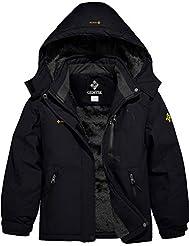 GEMYSE Girl's Waterproof Ski Snow Jacket...