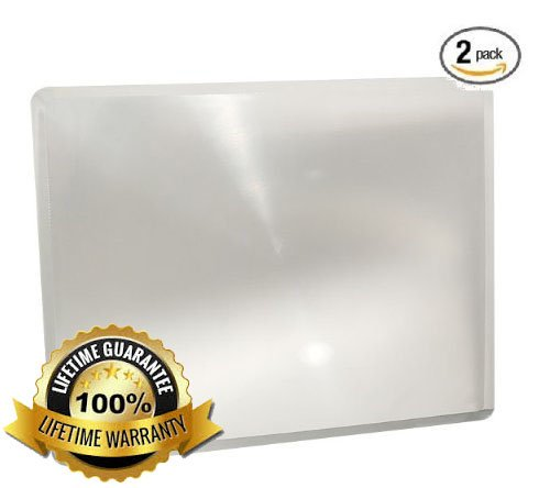 (2 Pack) Full Page MagniPros® 3x Magnifier / Plastic Magnifying Sheet Fresnel Lens 7.5