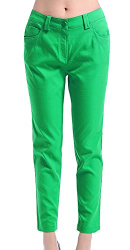 Generic Women's Summer Leisure Trousers Size 28 Green by Generic