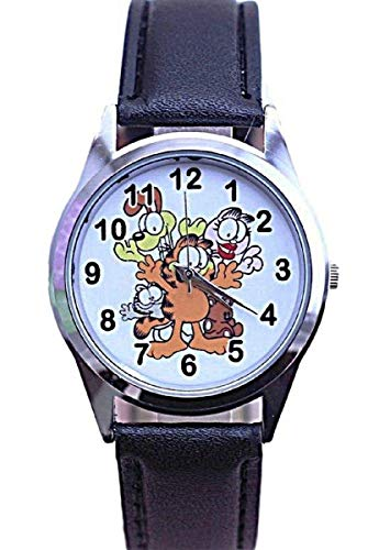 Garfield and Friends Genuine Leather Band Wrist Watch