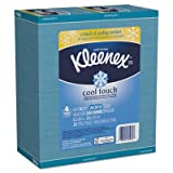 Kleenex 30960 Cool Touch Facial Tissues, 2-Ply, White, 4 x 4, 50 per Box (Case of 36 Boxes)