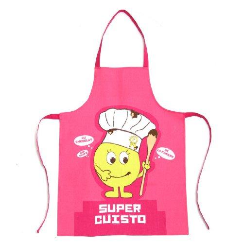 Tablier et toque pour enfant pour cuisiner en famille - Rose: Amazon ...