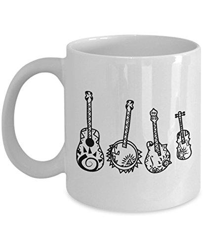 Bluegrass Coffee Mug 11oz - Music Lover gift for Banjo Players Musician String Instrument
