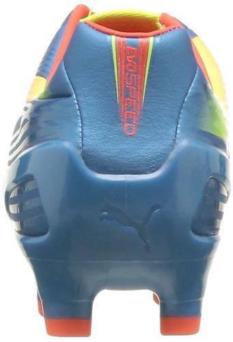 Puma evoSPEED 2.2 FG, Scarpe da calcio uomo Blu (Blau (Sharks Blue-fluro Peach-fluro Yellow 05))