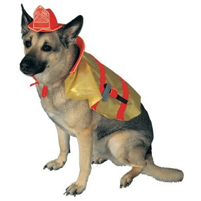 Pet Small - Firechief Pup Costume (Dog Firefighter Costume)