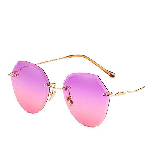 Sol Multilateral Gafas Home Mujer Personalidad Damas Coloridas Irregular Fortr Dama Vidrios Marco De Hombre Sin Recorte Para vntd5wgx