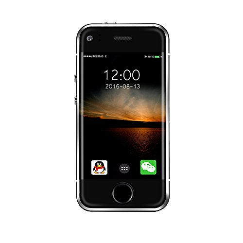 """Eachbid The Smallest Smartphone in the World, ANDROID UNLOCKED 2.4"""" GSM SMARTPHONE with 2MP Camera and 4GB of Storage Black"""
