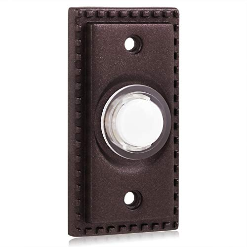Justdolife Doorbell Button Wired Professional Door Chime Button Door Push Button for Home