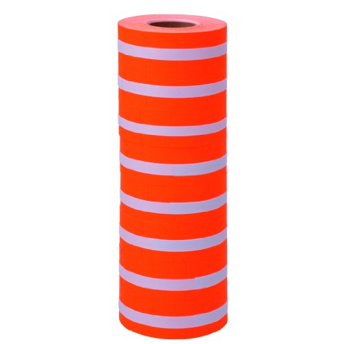 (Fluorescent Red with No Tamper Proof Slits Labels to fit TowaGL/ SpeedyMark4/ Halmark Model