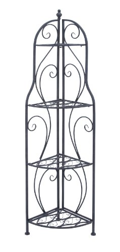 Deco 79 Metal Corner Rack, 60-Inch by 17-Inch by Deco 79