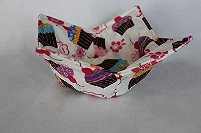 Microwave Bowl Cozy Bowl Potholder Reversible Cupcakes