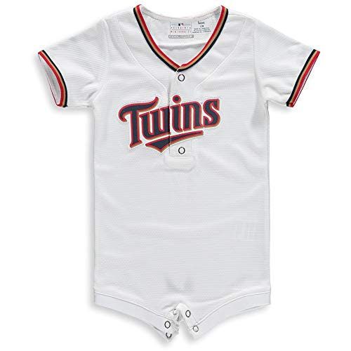 Outerstuff MLB Newborn Infants Cool Base Home Alternate Romper Jersey (3/6 Months, Minnesota Twins Home White)