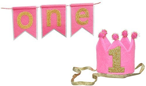 One Highchair Banner with Matching Crown