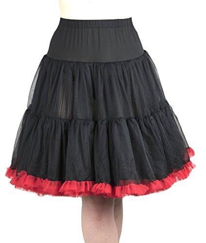 Retro Underskirt Swing Vintage Rockabilly enaguas Black with Red