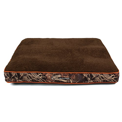 """Dallas WG3040-930.1 Realtree Gusseted Pet Bed, Camo with Orange Piping, 40"""" x 30"""""""
