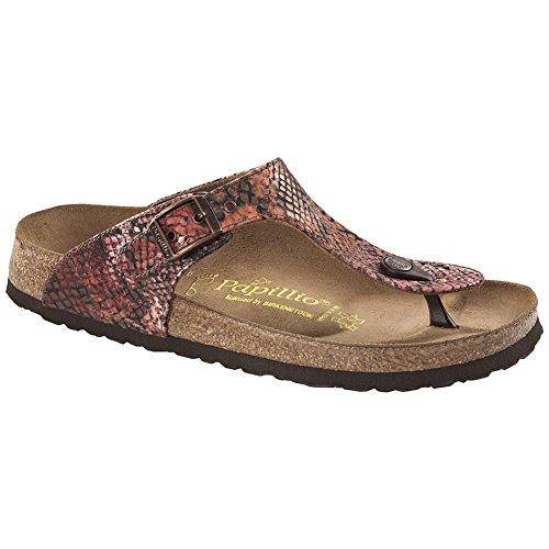 Papillio Women's Gizeh Sandal Summer Red Textile Size 38 EU (7.5-8 M US Women) by Papillio