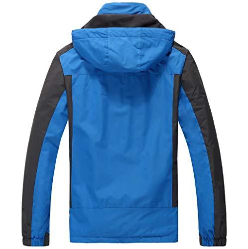 Blu Blu Invernale L Uomo da con Antivento e Colore Cappuccio Cappuccio Cappuccio Impermeabile JBHURF Dimensioni Alpinismo NERO Giacca da Invernale ZxgYCnwOqB