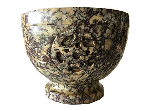 NAI Soapstone Incense Burner Bowl/Smudge Pot/Wicca Ritual Offering Bowl Celtic Knot W/Pentacle 4