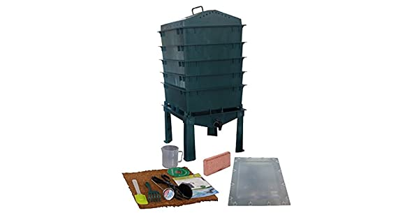 Amazon.com: 5-tray Gusano Compost Bin itower-green: Jardín y ...