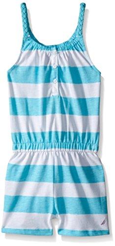 Nautica Printed Stripe Romper Braided