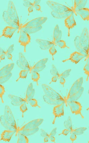 Mint & Gold Butterfly Notebook: Butterflies Note Book - Composition Journal with Blank White Lined Pages to Write In - Pretty Lined Notepad - Mother's ... for Girls Teens Mom Grandma Women - Size 5x8