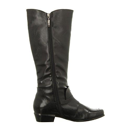 1 Schwarz Schwarz Stiefel Piazza Damen 970693 Stiefeletten qn7PApw1