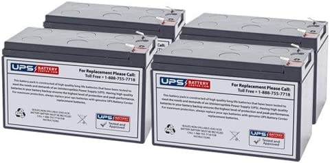 Set of 4 12V 7.2Ah F2 Sealed Lead Acid Replacement Battery Set for Tripp Lite RBC54 by UPSBatteryCenter