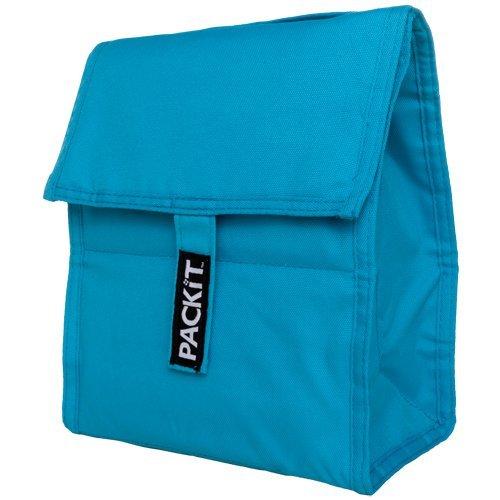 PackIt Freezable Lunch Bag, Aqua - Aqua Lunch Bag