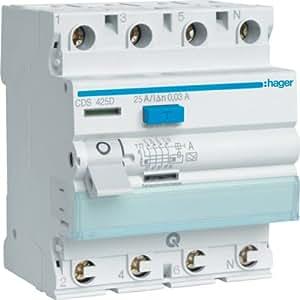 Hager CDS425D FI-Schalter 4P 6kA 25A 30mA Typ A QC