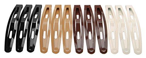 L. Erickson Oblong Metal Cliq Claq Clip & Go 12-Pack - (Ivory Chocolates)