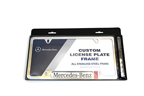 Genuine Mercedes-Benz Q6880086 - Polished Stainless Steel License Plate ()