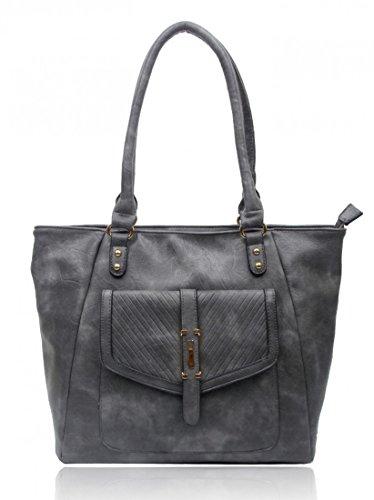D Bag Size CW14128 Office Women Shoulder Grey School Handbags Shoulder For Large Bag For Faux Leather Holiday LeahWard qRwHAtx6O