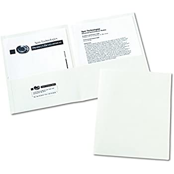 Amazon Com Avery Two Pocket Folders White Box Of 25
