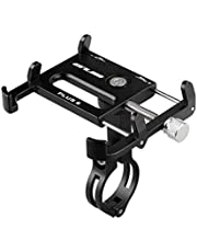 Gub Bicycle & Motorcycle Phone Mount - Aluminum Bike Phone Holder with 360°Rotation Adjustable Handlebar Phone Holder Compatible with iPhone XS XR 8 Plus,Compatible with Samsung S9/S8 (PLUS6 BLACK)