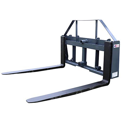 """(Titan Distributors Inc. UA 42"""" Pallet Fork Frame Attachment with Headache Rack and Hitch 