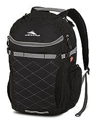 High Sierra Broghan Lifestyle Backpack, Black, Charcoal, International Carry-On